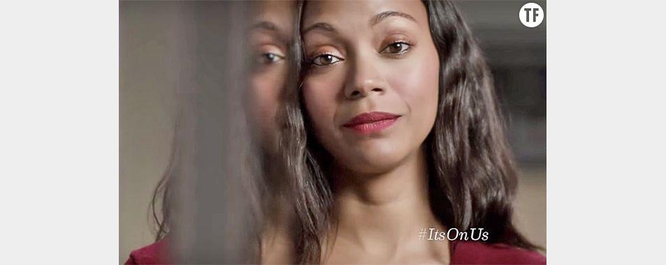 Zoe Saldana et d'autres célébrités prêtent leurs voix à la campagne It's On Us.