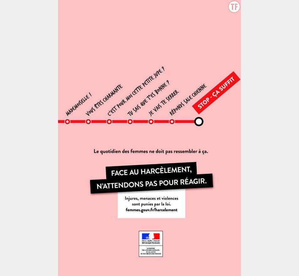 L'affiche Stop-Ca suffit contre le harcèlement dans les transports