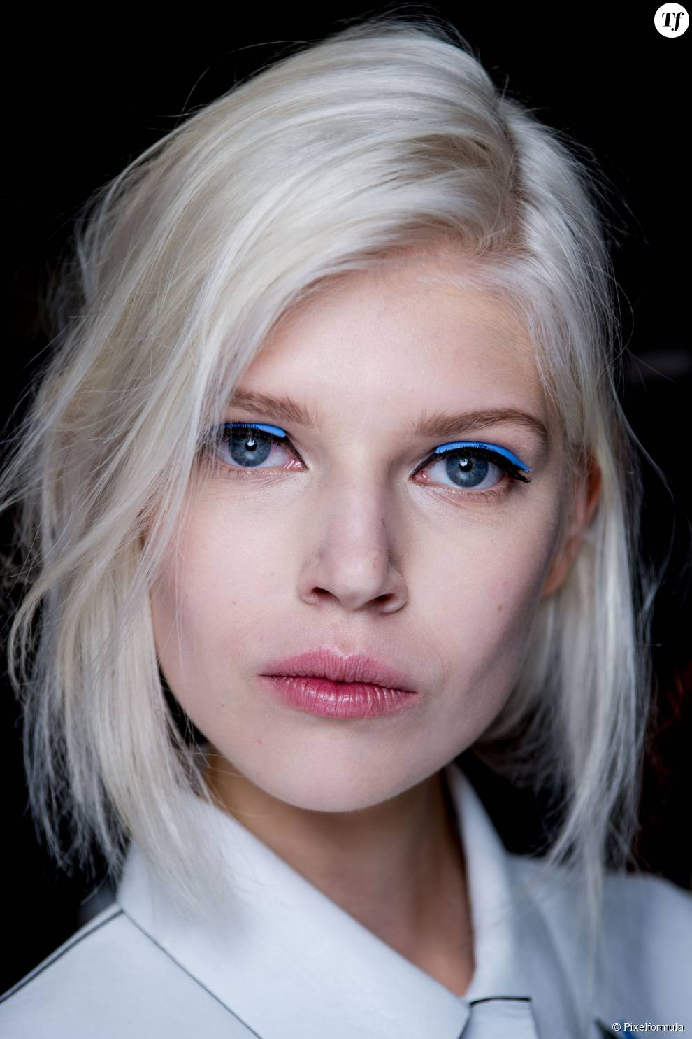 cheveux blancs fendi backstage printemps t 2015 - Colorer Cheveux Blancs
