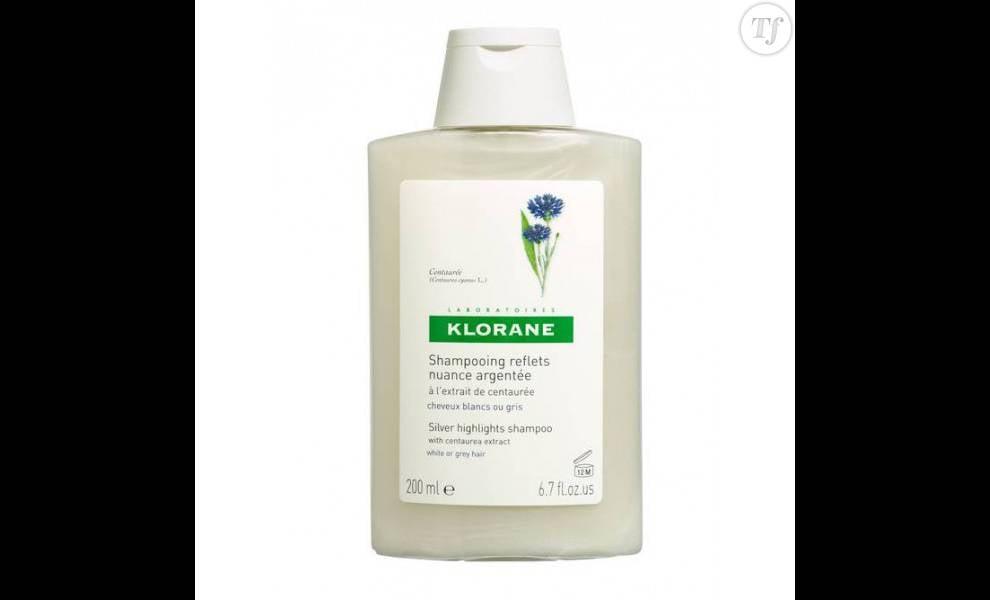 Shampoing raviveur d'éclat pour cheveux blancs et argentés, Laboratoire Klorane,  5,80 euros