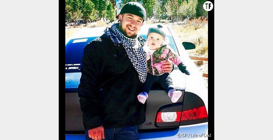 Richard Johnson et sa petite fille