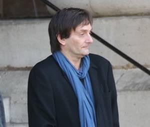 Pierre Palmade - Sorties des obsèques de Sylvie Joly en l'église Saint-Sulpice à Paris le 9 septembre 2015.