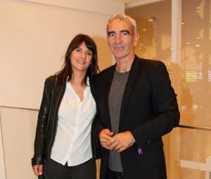 Estelle Denis et son compagnon Raymond Domenech