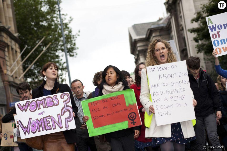 Marche à Dublin le 29 septembre 2012 pour réclamer la légalisation de l'avortement en Irlande.