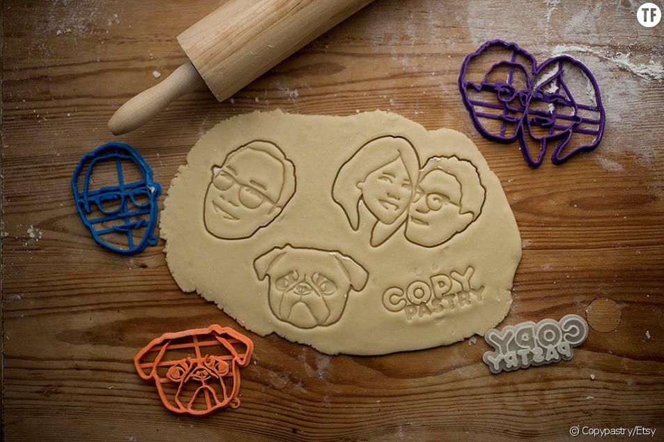 La boutique Copypastry crée des emporte-pièces à l'effigie de ses clients