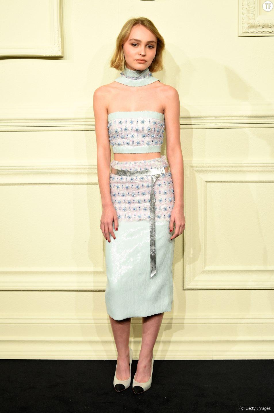 Lily-Rose Depp à la présentation de la collection Métiers d'Art à New York en mars 2015