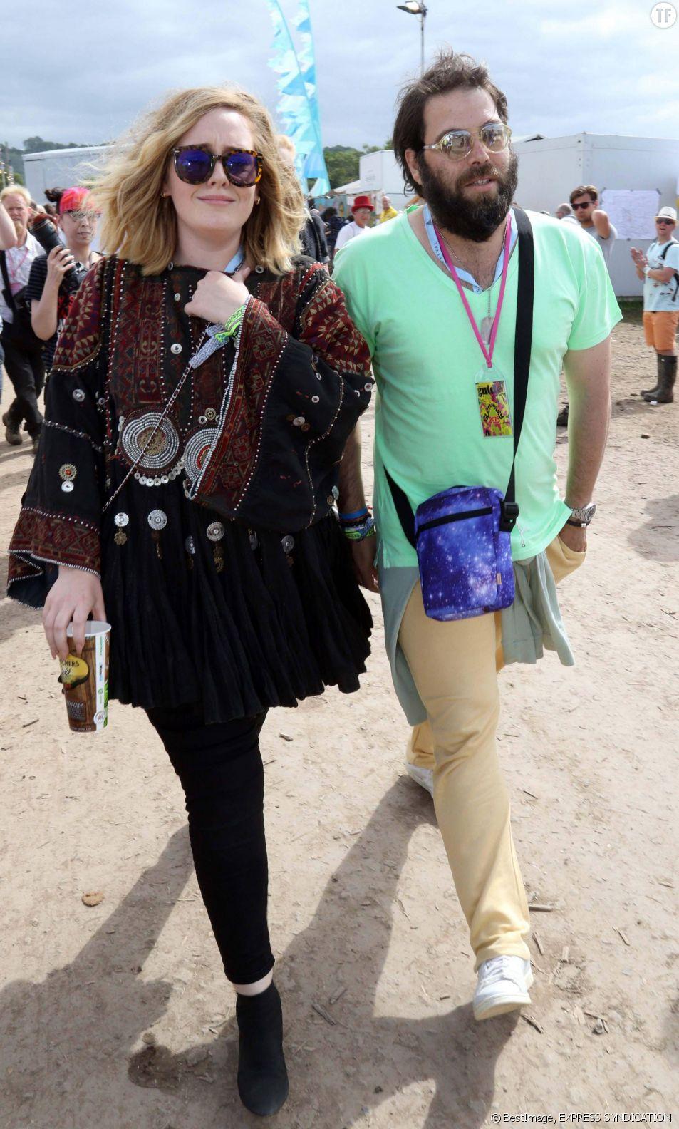 Adele et son compagnon Simon Konecki en juin 2015