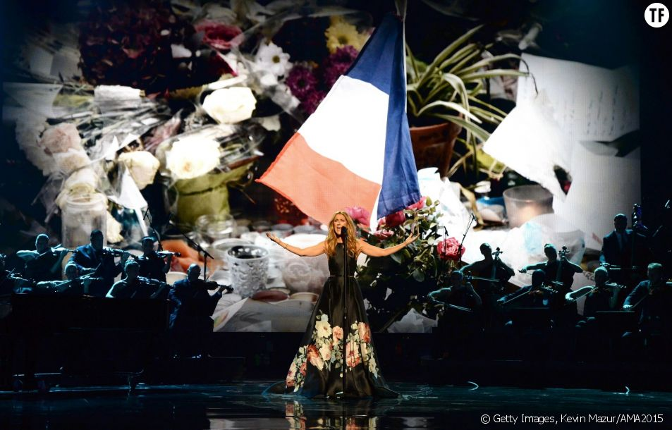 Céline Dion à la cérémonie des American Music Awards 2015
