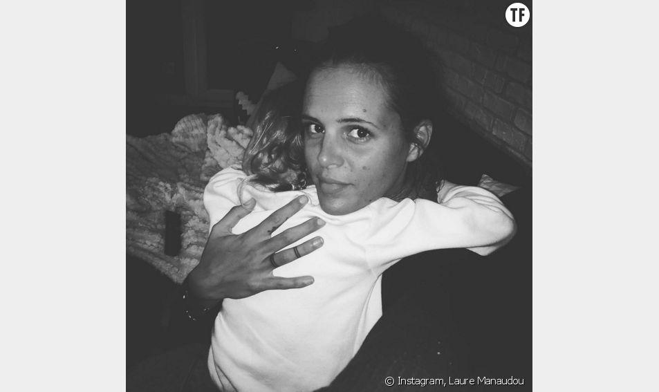 Laure Manaudou et sa fille Manon, 5 ans