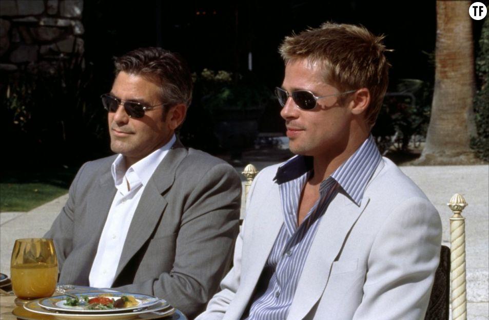 Brad Pitt et George Clooney dans Ocean's Eleven