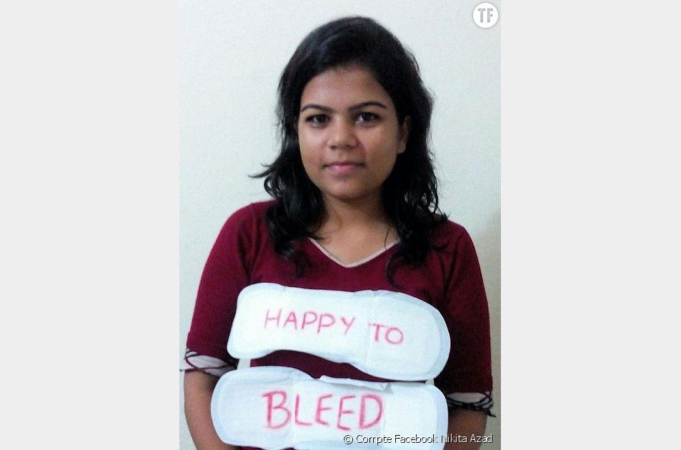 Nikita Azad a lancé la campagne #HappyToBleed pour en finir avec les préjugés autour des règles