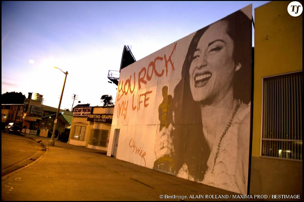 Un dessin de Marion Cotillard à Los Angeles