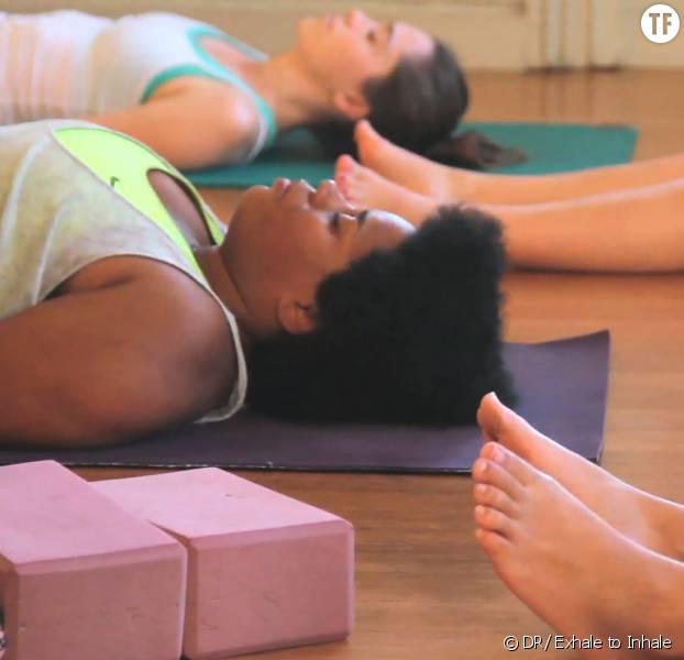 Un cours de yoga