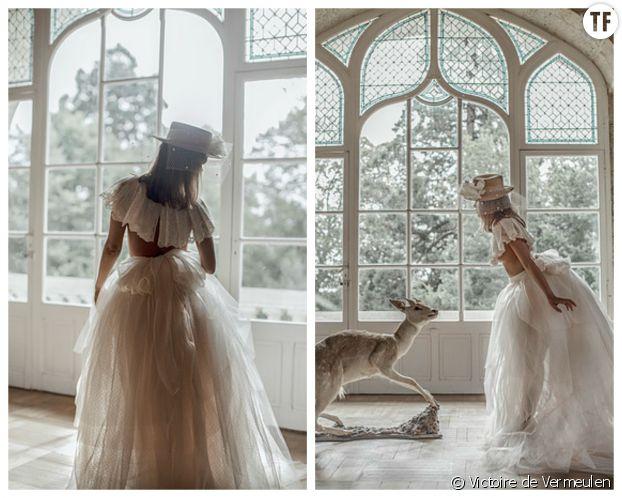 La robe de mariée deux pièces de Victoire de Vermeulen
