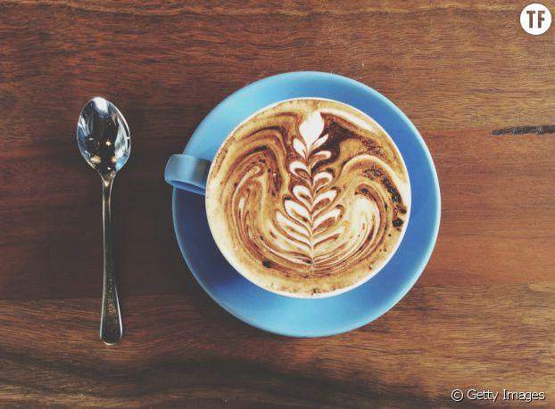 Un café au lait de soja