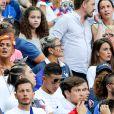 Erika Choperena, la compagne d'Antoine Griezmann dans les tribunes du Stade de France lors de la finale de l'Euro 2016 le 10 juillet
