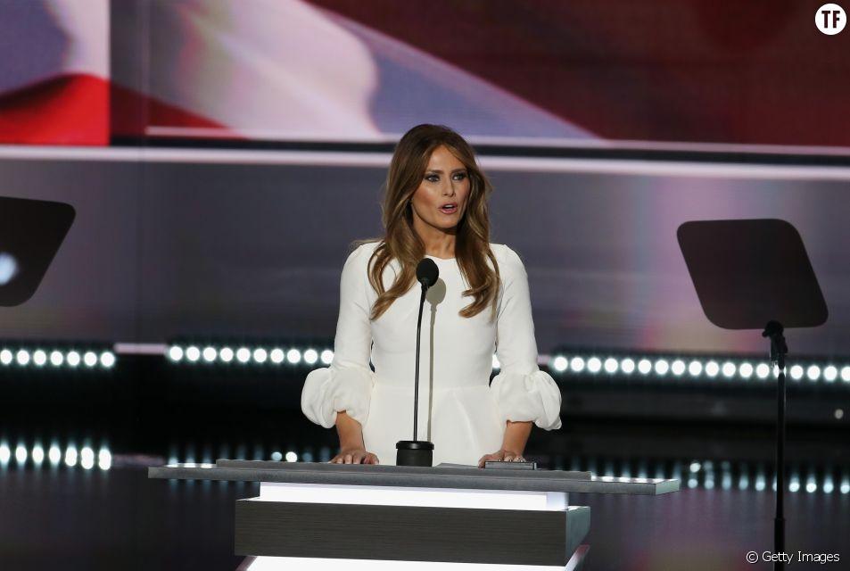 Melania Trump à la convention républicaine de Cleveland le 18 juillet 2016