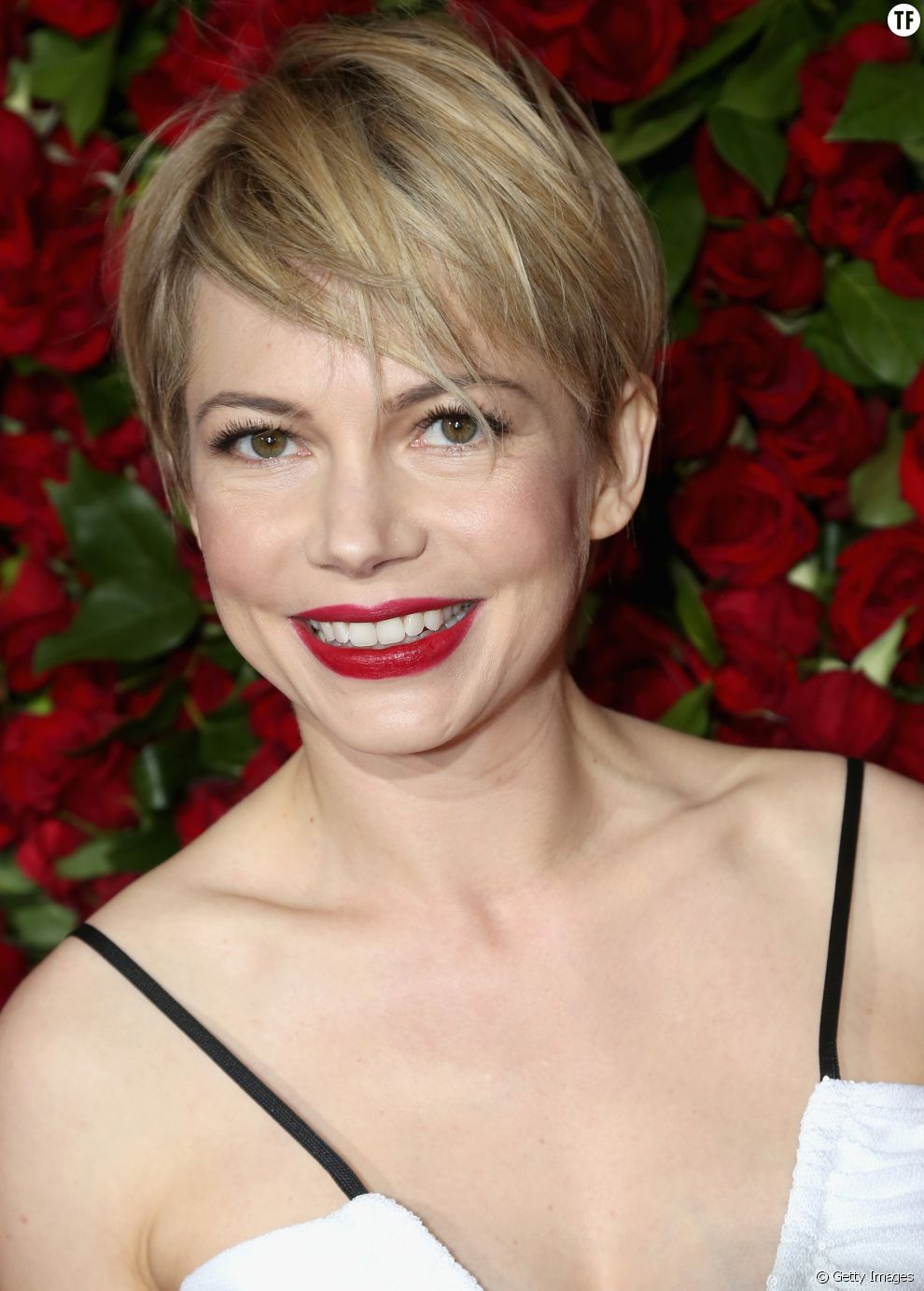 on valide la coupe courte de l 39 actrice michelle williams On coupe de cheveux courte actrice
