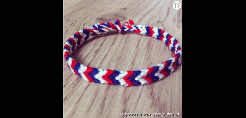 bracelet bleu  blanc  rouge