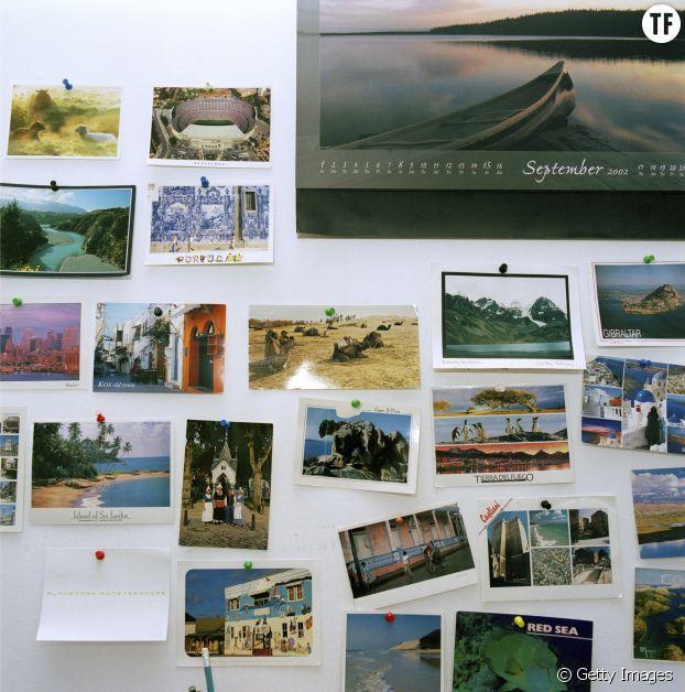 Mur à cartes postales