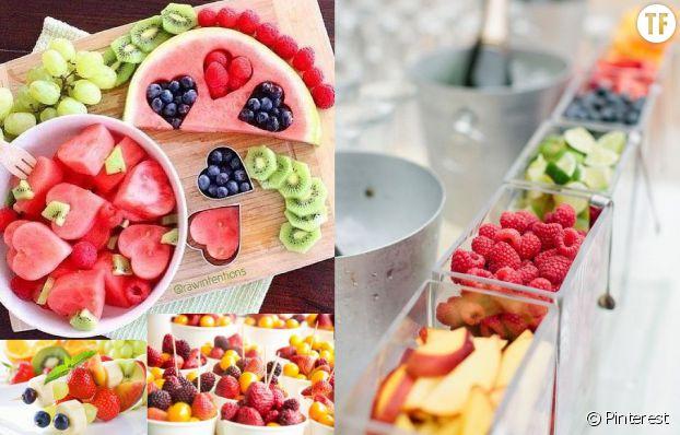 On offre des fruits frais à ses invités.