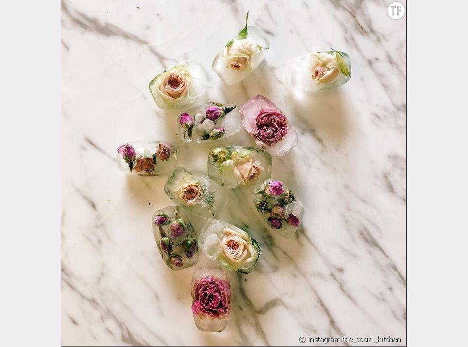 Les glaçons infusés à la rose : le secret de beauté des islandaises