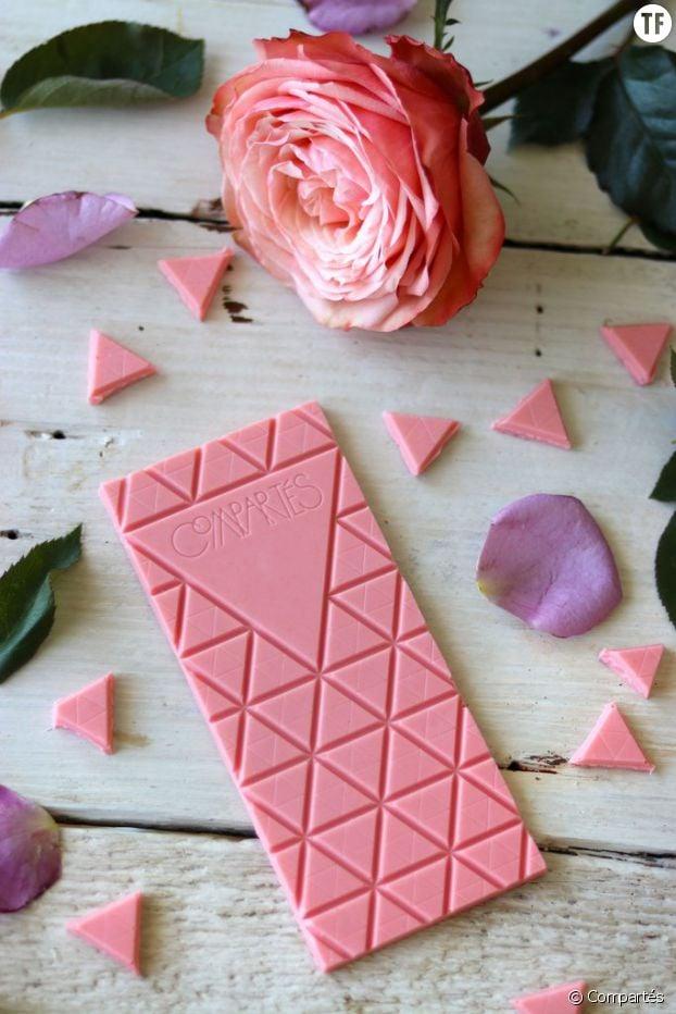 La tablette au chocolat et rosé de Compartés