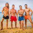 Les quatre hommes au casting de La Revanche des Ex - de gauche à droite : Aaron, Jean-Charles, Mickaël et Medhi