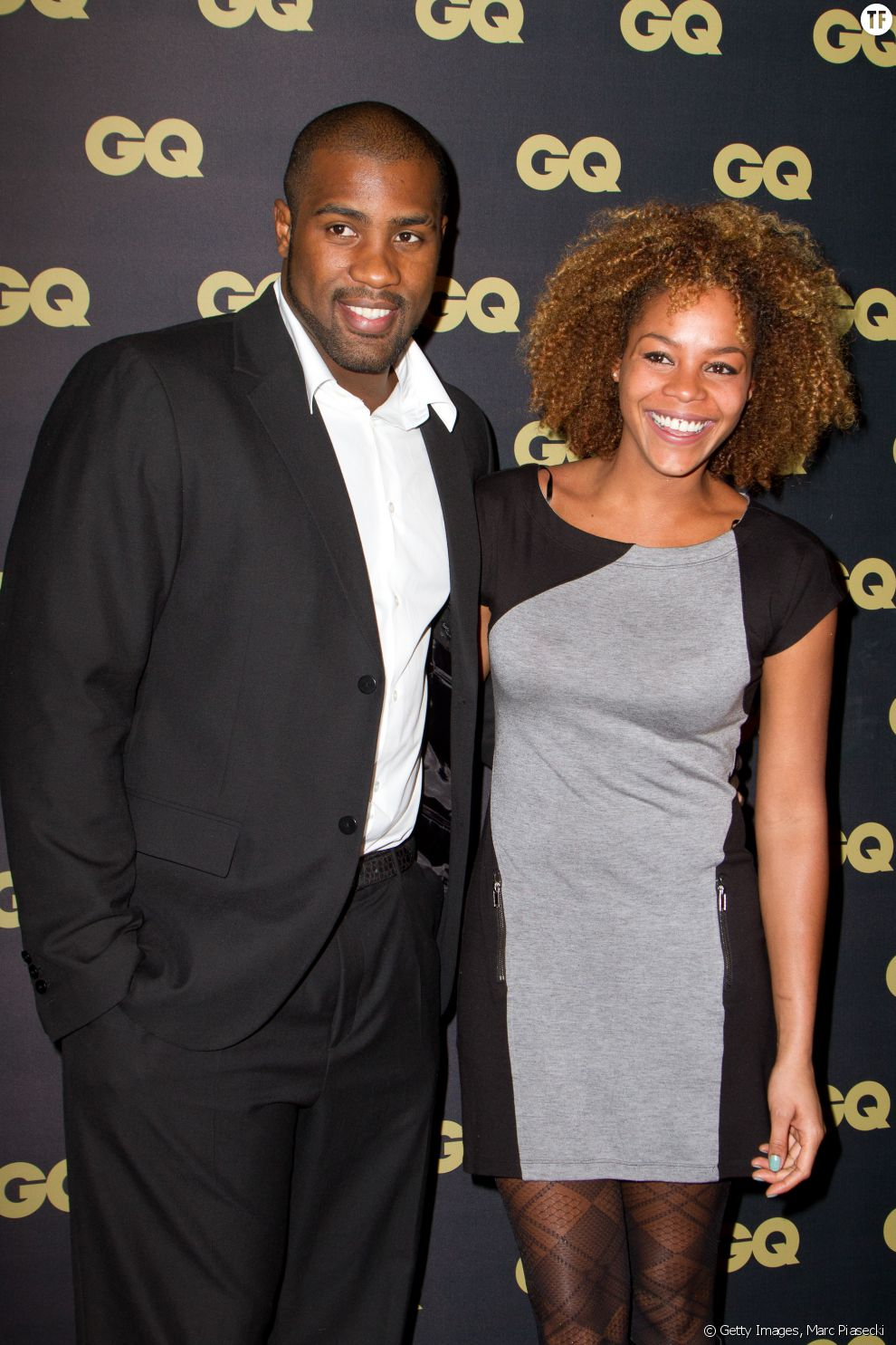 Le judoka français Teddy Riner et sa fiancée Luthna