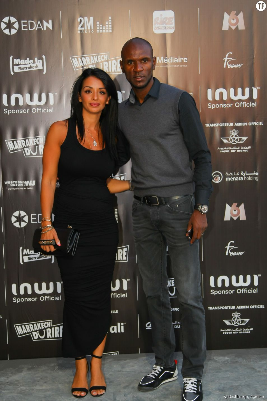Eric Abidal et sa femme Hayet