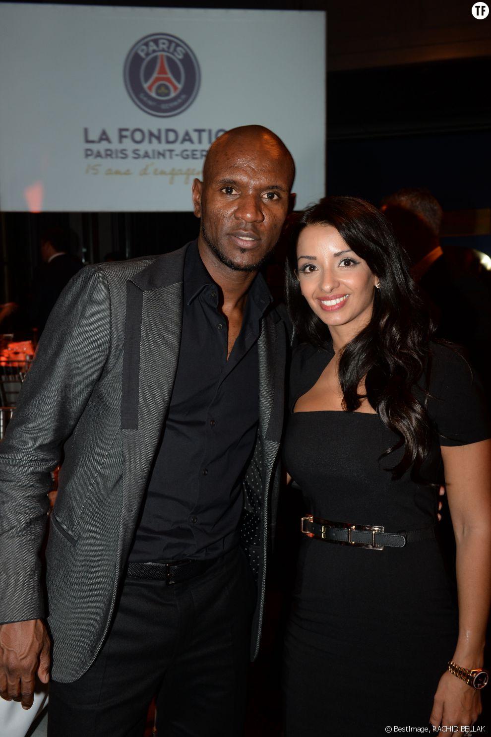 Eric Abidal et son épouse Hayet