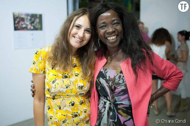 Chiara Condi et une participante de son projet Led by HER, la start-up qui transforme les victimes en chefs d'entreprise