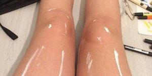 Pourquoi ces jambes luisantes affolent le web