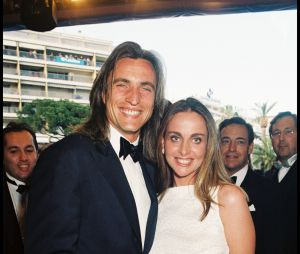 David Ginola et sa femme Coraline en 1998