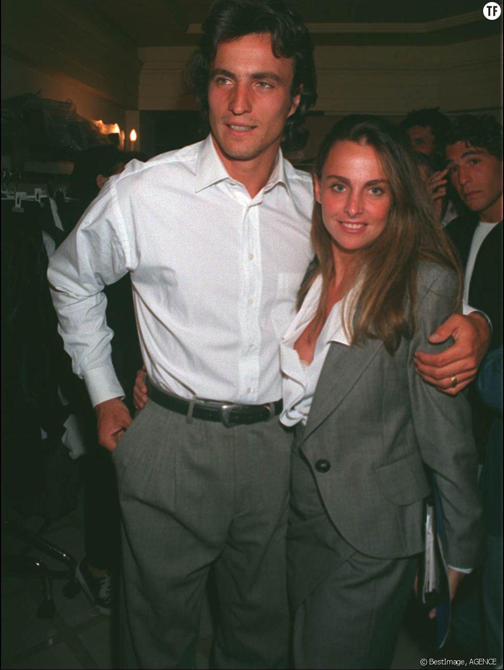 David Ginola et son épouse Coraline en 1995