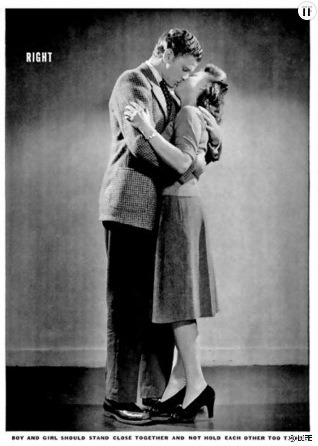 Illustration du guide du baiser parfait dans les années 40
