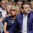 Brigitte Trogneux et son mari Emmanuel Macron