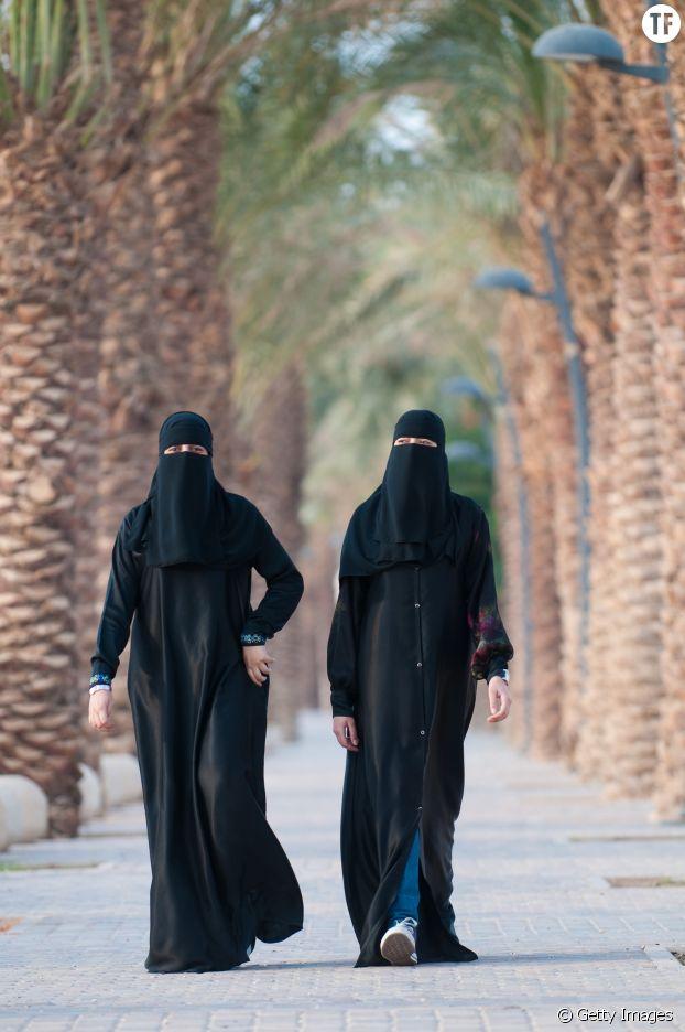 Des Saoudiennes en niqab