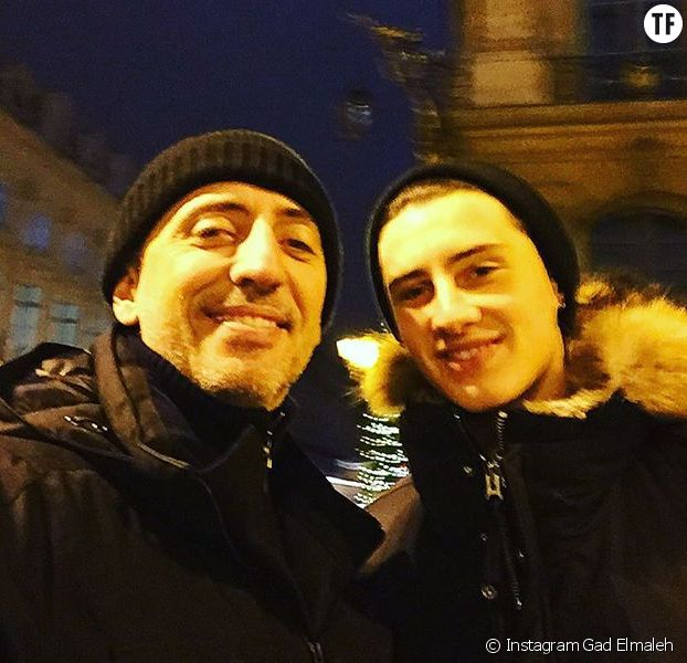 Gad Elmaleh avec son fils, le mannequin Noé Emaleh