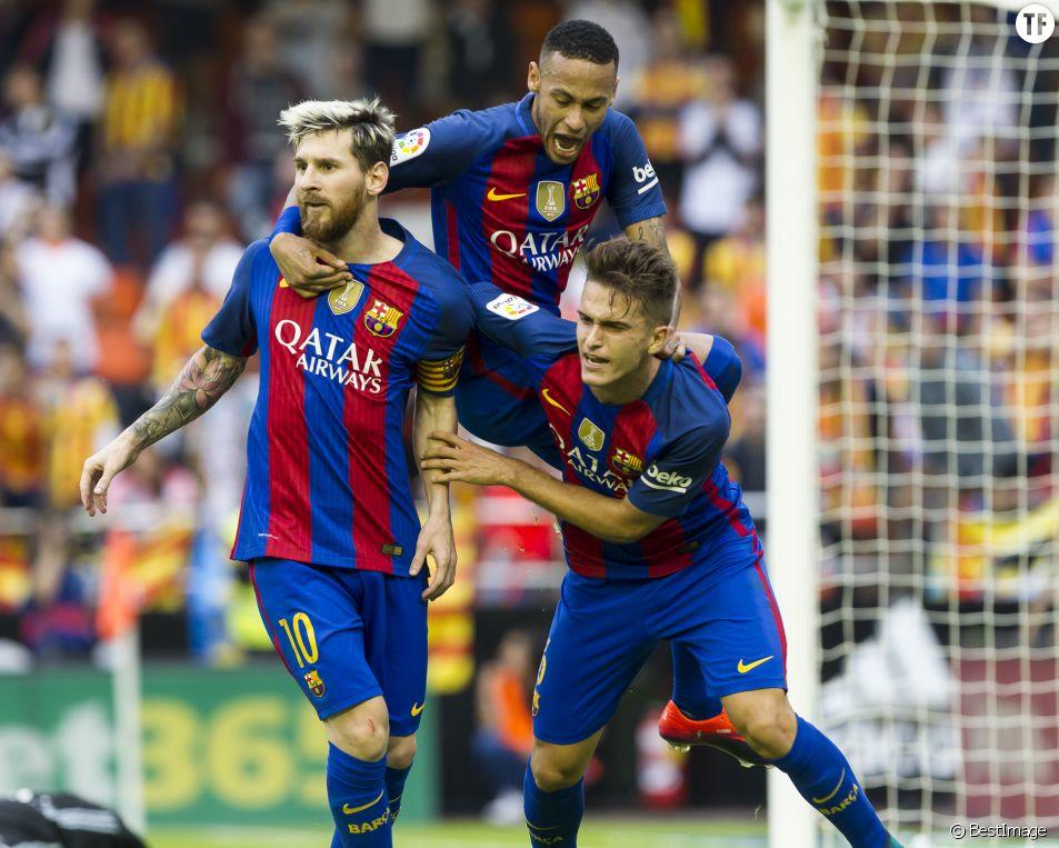 Lionel Messi, Neymar et Denis Suarez