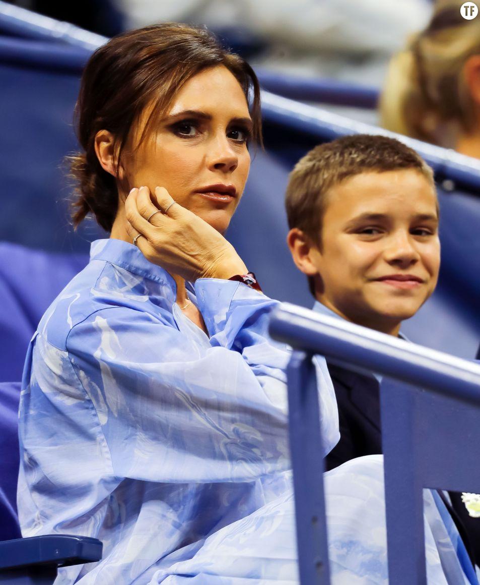 Victoria Beckham et son fils Romeo, Us Open Tennis, 29 août 2017