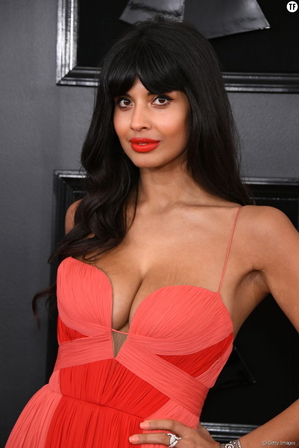 L'atrcice Jameela Jamil aux Grammy Awards 2019