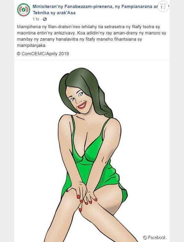 L'illustration postée par le Ministère de l'Education nationale de Madagascar