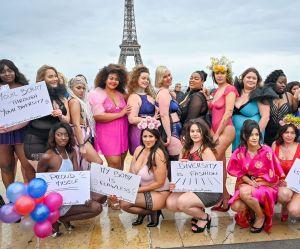 Elles défilent en lingerie devant la Tour Eiffel contre le manque de diversité dans la mode