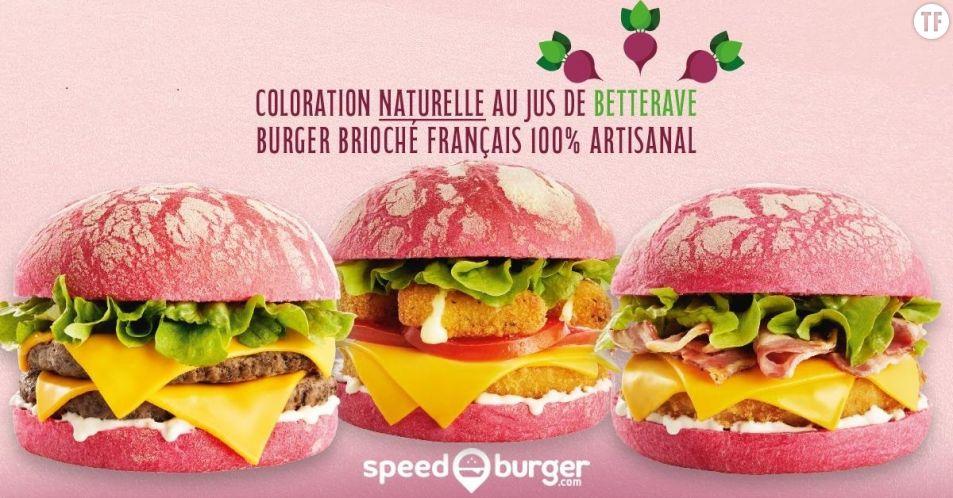 Les fameux burgers roses de Speed Burger  - Twitter
