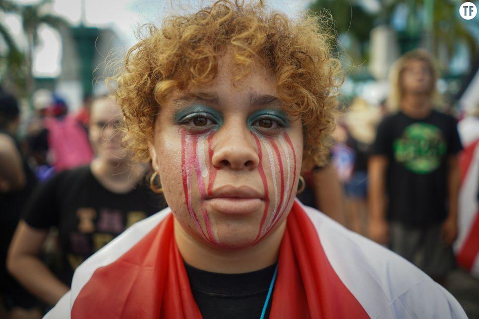 Les manifestantes s'indignent à Porto Rico. Getty Images.