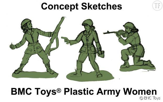 Les figurines dessinées par Tina Imel.