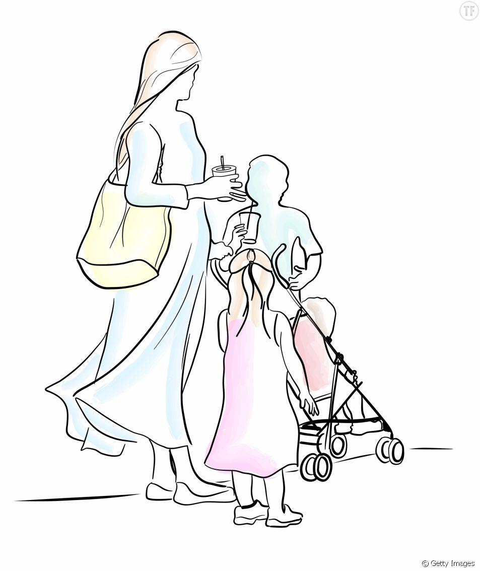 Mère célibataire avec deux enfants