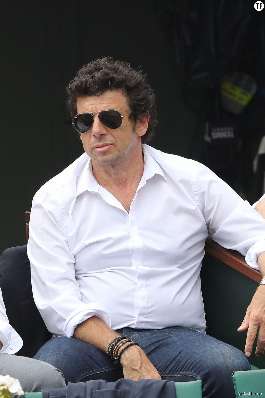 Patrick Bruel dans de Roland Garros à Paris, le 10 juin 2018.