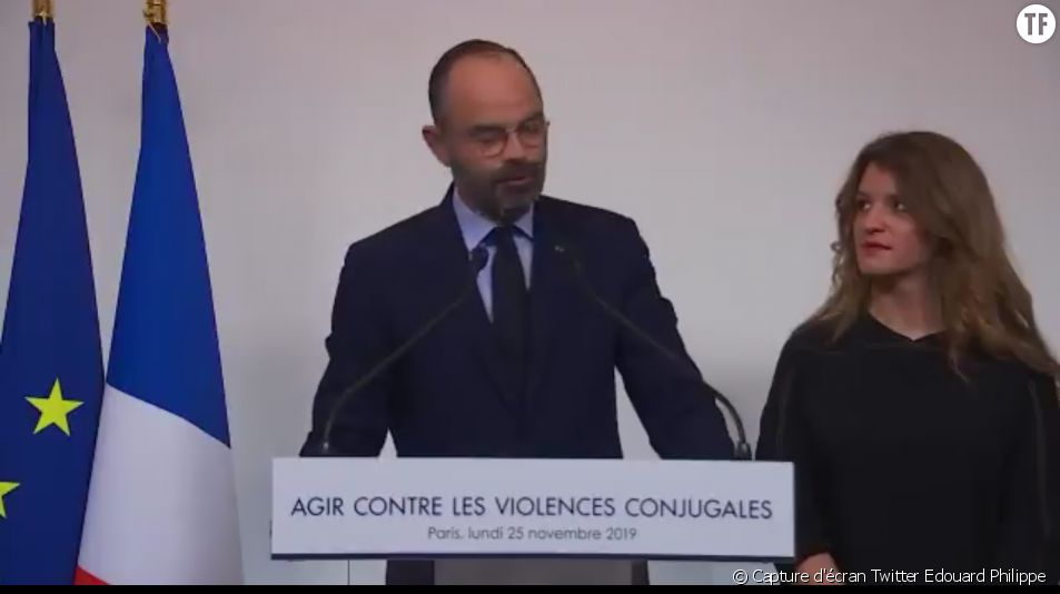 Edouard Philippe et Marlène Schiappa annoncent les mesures du Grenelle des violences conjugales.